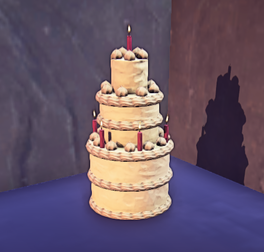 Landmark Buttercream Cake prop placed