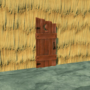Outhouse-door