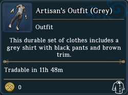 Artisans Outfit Grey examine