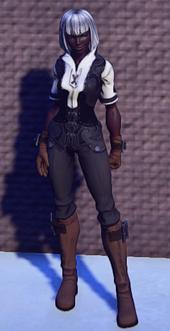 Pathfinders Gear Black equipped