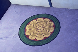 Small Round Rug prop placed