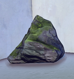 Medium Mossy Old Growth Rock 1 prop placed