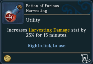 Potion of Furious Harvesting