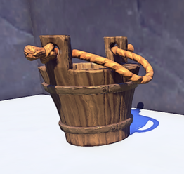 Landmark Small Wooden Bucket prop placed