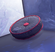 Round Cushion Black prop placed
