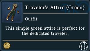 Travelers Attire Green examine