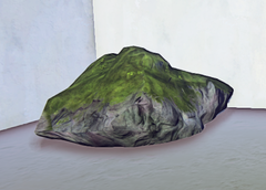Large Mossy Old Growth Rock 2 prop placed