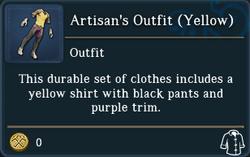 Artisans Outfit Yellow examine