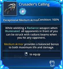Crusader's Calling - Info