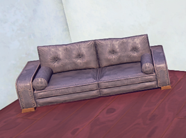 Padded Couch prop placed