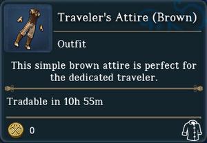 Travelers Attire Brown examine