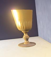 Landmark Large Gold Stemmed Glass prop placed