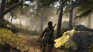 Lara in Forest