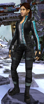 Relic Run Outfit Biker Cobalt