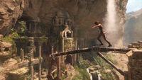 Lara Approaching Cliffside Ruins