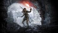 Lara at a Cave Entrance