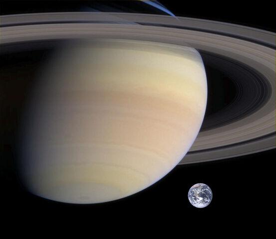 File:Saturn, Earth size comparison.jpg