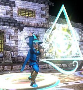 Blaine Casting a myth spell