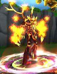 Treant on fire