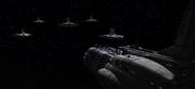 Radis's ships attacking a council ship