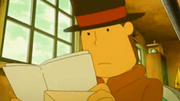 Layton receiving a letter