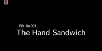 File No. 001: The Hand Sandwich