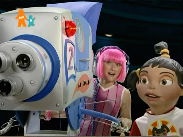 File:Nick Jr. LazyTown - Stephanie and Trixie in Pixel TV.png