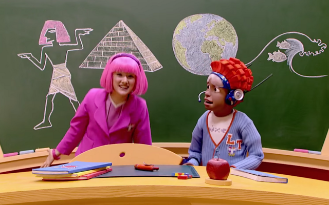 File:Nick Jr. LazyTown Pixel and Stephanie 3 - School Scam.png