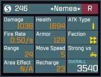 Nemea R Lv1 Back