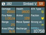 Sinbad V SR Lv1 Back