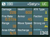 Satyr UC Lv1 Back