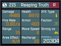 Reaping Truth R Lv50 Back