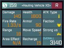 Hauling Vehicle XII R Lv1 Back