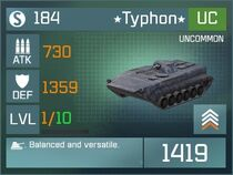 Typhon UC Lv1 Front