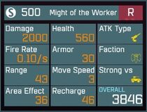 Might of the Worker R Lv1 Back