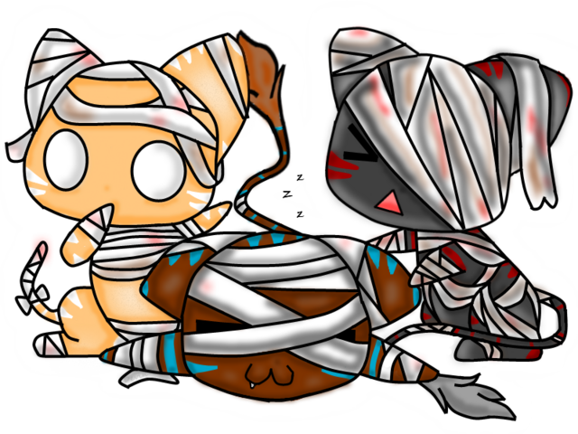 File:Nhan-Fiction Mummy cat chibis.png