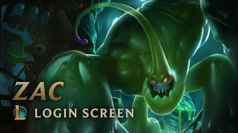 Zac, the Secret Weapon - Login Screen