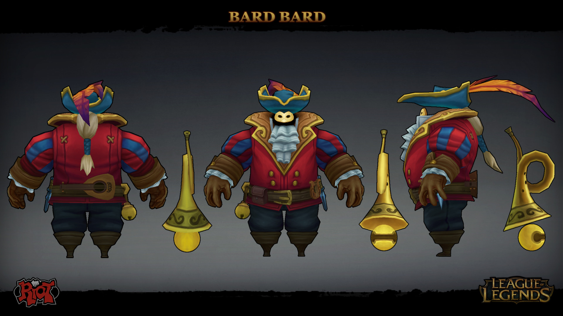 Bard Minimalistic League Of Legends Wallpapers League Of: Image - Bard Bard Model 01.jpg