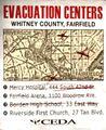 Sign evacuation notice centers