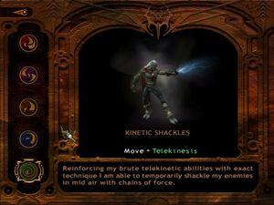 Kinetic shackles