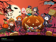 Ao chibi halloween wallpaper