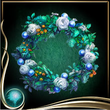 Turquoise Wreath of Flowers