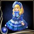 Blue Bisque Doll EX