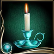 Turquoise Candle