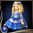 Blue Bisque Doll