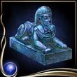 Blue Sphinx Figure