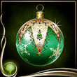 Green Christmas Ornament EX