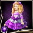 Purple Bisque Doll