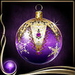 Purple Christmas Ornament EX