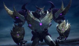Unicron in Megatron's body